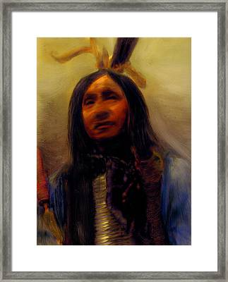 Framed Print featuring the painting Homage To The Ancient Ones by FeatherStone Studio Julie A Miller