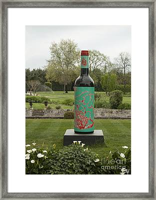 Homage To Wine Framed Print