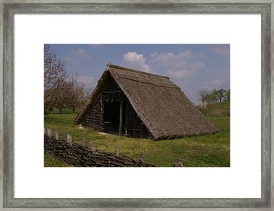 Home - Prehistory Edition Framed Print by Catja Pafort