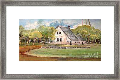 Framed Print featuring the painting Home Again by Linda Shackelford
