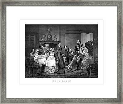 Home Again - Civil War Framed Print by War Is Hell Store