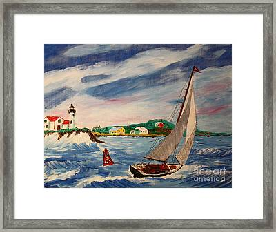 Home Ahead Of The Storm Framed Print by Bill Hubbard