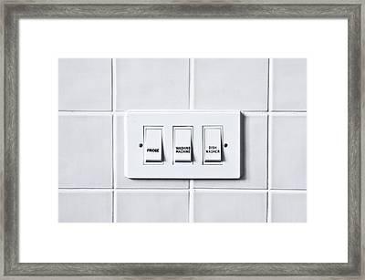 Home Appliances Framed Print by Tom Gowanlock
