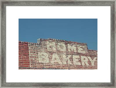 Home Bakery- Photo By Linda Woods Framed Print