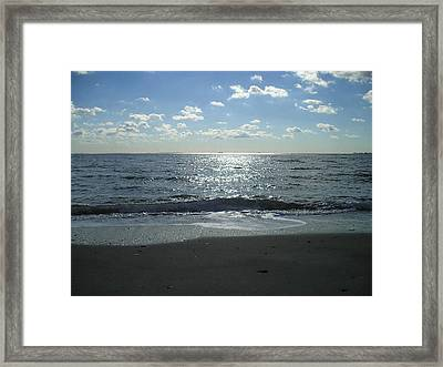 Home Beach Framed Print by Silvie Kendall
