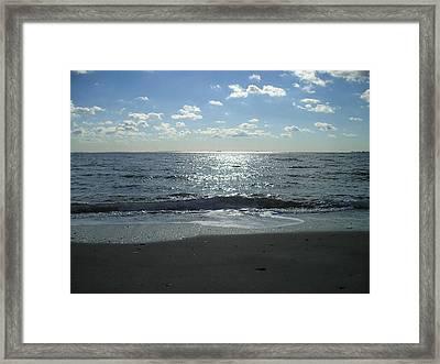 Home Beach Framed Print by Silvie Kendall