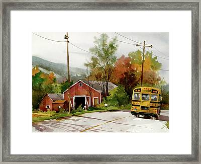 Home Bus Framed Print by Art Scholz