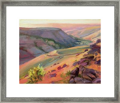 Home Country Framed Print