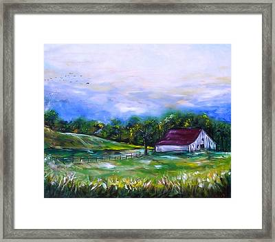 Framed Print featuring the painting Home by Emery Franklin