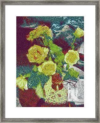 Home Flowers Framed Print by Mario Carini