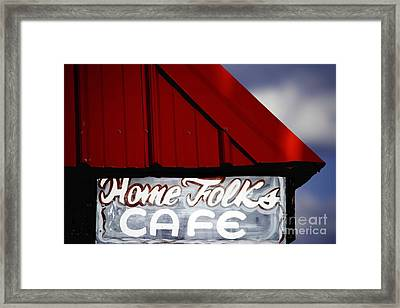 Home Folks Cafe Framed Print by JW Hanley