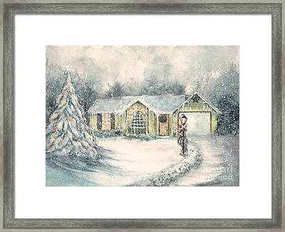 Home For Christmas Framed Print by Janine Riley