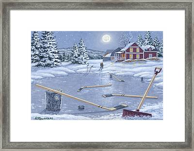 Home For Supper Framed Print