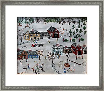 Home For The Hoildays Framed Print by Lee Gray