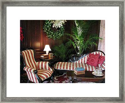 Home For The Holidays Framed Print by Angela Davies