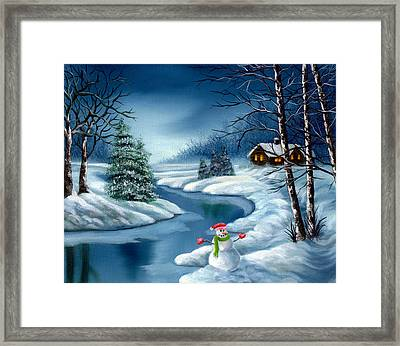 Home For The Holidays Framed Print by Daniel Carvalho