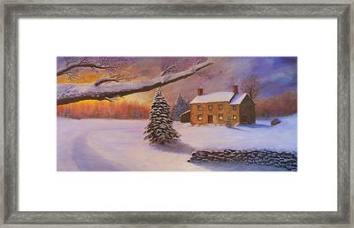 Home For The Holidays Framed Print by Jean LeBaron