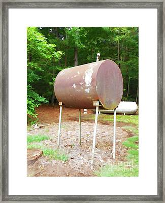 Home Heating Oil Tank 1 Framed Print by Lanjee Chee