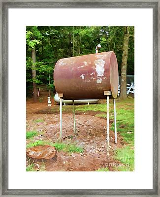 Home Heating Oil Tank 2 Framed Print by Lanjee Chee