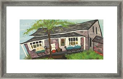 Home In Feeding Hills Mass Part 1 Framed Print by Suzanne  Marie Leclair
