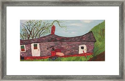 Home In Feeding Hills Part 2 Framed Print by Suzanne  Marie Leclair