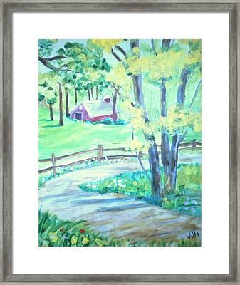 Home In Kansas Framed Print