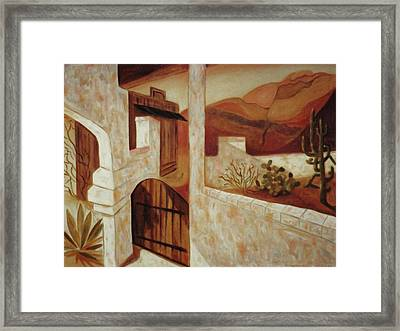 Home In Kingman Arizona Framed Print by Suzanne  Marie Leclair