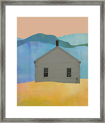 Old School House In New England Framed Print
