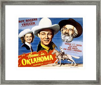 Home In Oklahoma, Dale Evans, Roy Framed Print by Everett