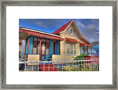 Home In The Caribbean Framed Print