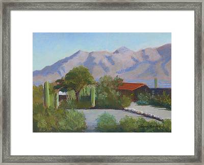 Home In The Catalinas Framed Print
