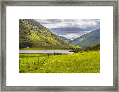 Framed Print featuring the photograph Home In The Mountains by Steven Ainsworth