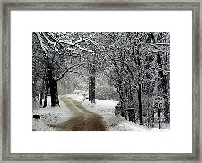 Home Is Just Around The Corner Framed Print by David Bearden
