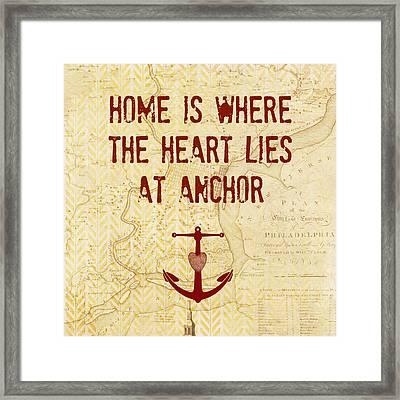 Home Is Philadelphia Anchor Framed Print
