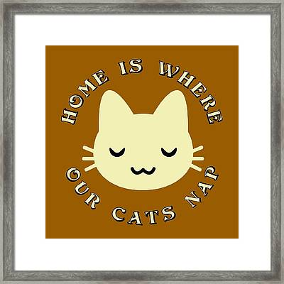 Home Is Where Our Cats Nap Framed Print by David G Paul