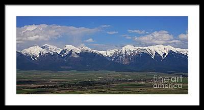 National Bison Range Framed Prints