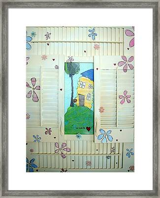 Home Is Where The Heart Is Framed Print by Lizzie  Johnson