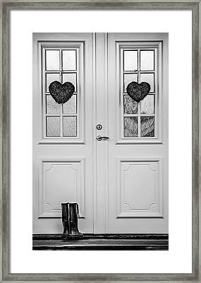 Home Is Where The Heart Is Framed Print by Maggie Terlecki
