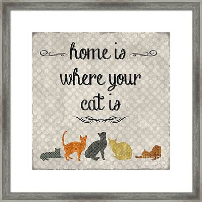 Home Is Where Your Cat Is-jp3040 Framed Print by Jean Plout
