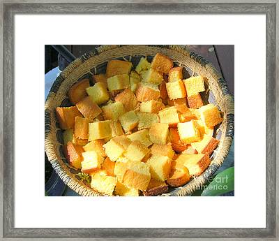 Home Made Cornbread Framed Print