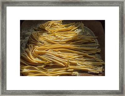 Home Made Pasta  Framed Print by Patricia Hofmeester