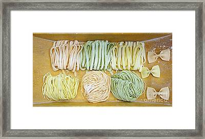 Home Made Pasta Samples Framed Print by Yali Shi