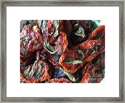 Home Made Sun  Dried Tomatoes Framed Print by Viktoriya Sirris