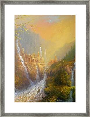 Rivendell Home Of Elves  Framed Print by Joe Gilronan