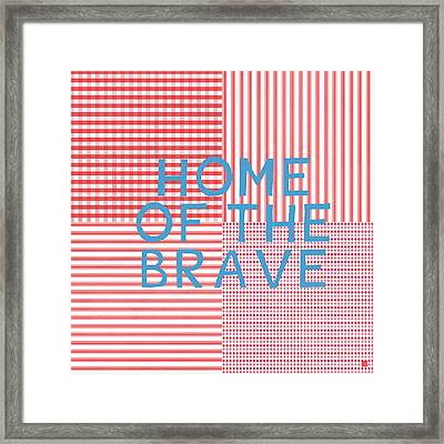 Home Of The Brave- Art By Linda Woods Framed Print by Linda Woods