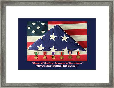 Home Of The Free Because Of The Brave Framed Print