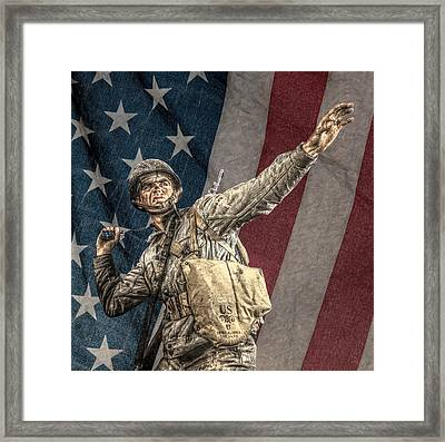 Home Of The Free Land Of The Brave Framed Print by Randy Steele