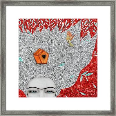 Home On My Mind Framed Print by Natalie Briney