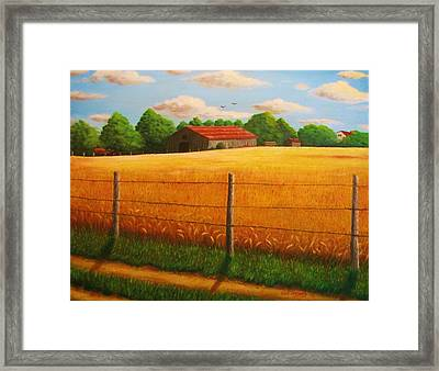 Home On The Farm Framed Print by Gene Gregory