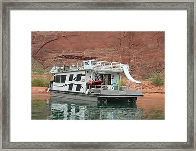 Home On The Lake Framed Print by Amy Holmes